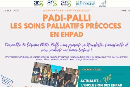 Actualité de Padi Palli, pour le développement des soins palliatifs précoces en Ehpad