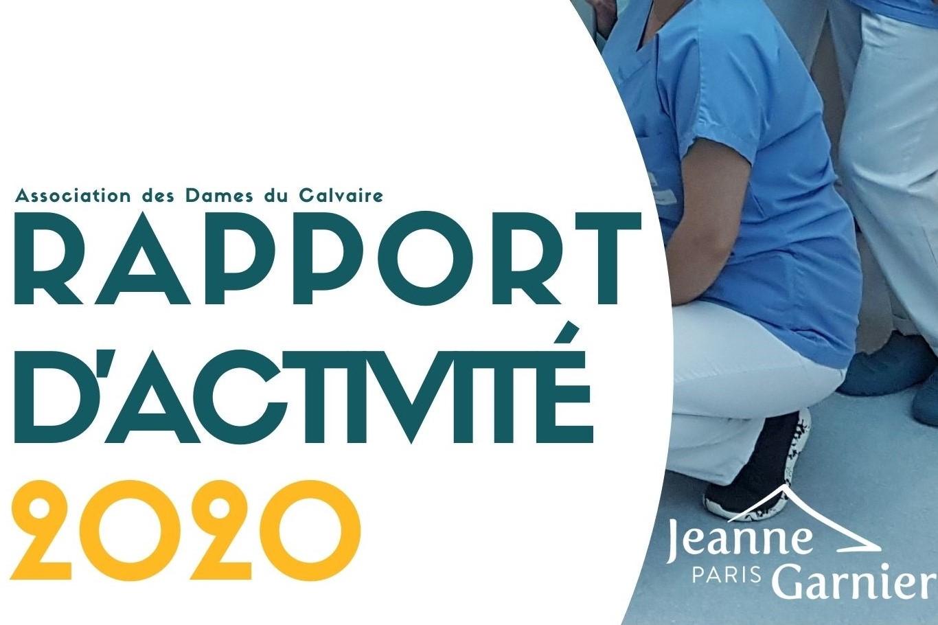 Découvrez le rapport d'activité 2020 de l'Association des Dames du Calvaire