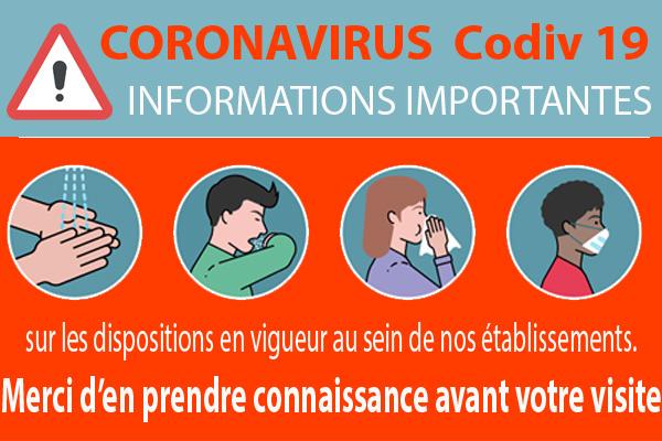 IMPORTANT -Informations Coronavirus COVID-19