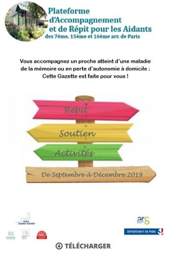 Vignette Gazette des Aidants n9 - 2d semestre 2019