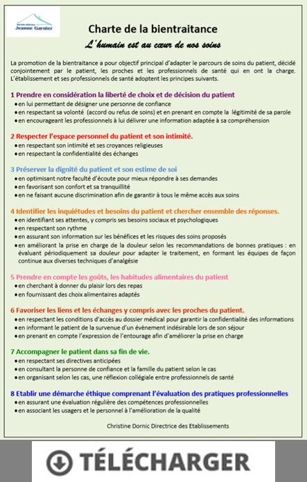 Charte de la bientraitance