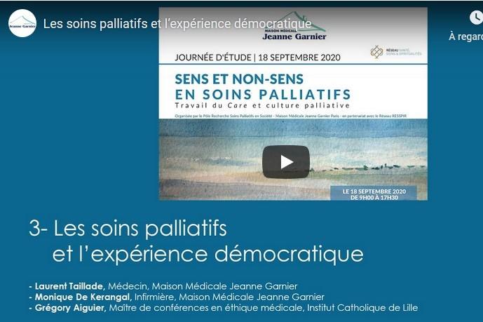 Les soins palliatifs et l'expérimentation démocratique (Replay 3/4)