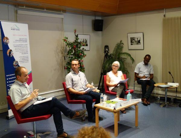 table ronde 3 Laurent Taillade, Monique De Kerangal, ,Grégory Aiguier