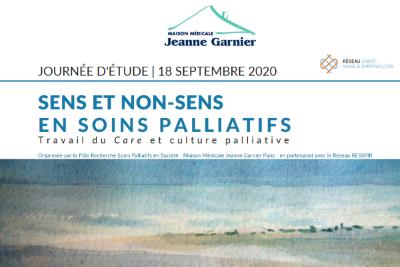"""Replay Journée d'étude 2020: """"Sens et nons-sens en soins palliatifs"""""""
